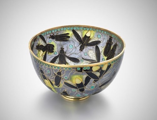 """Fireflies"" plique-a-jour bowl"