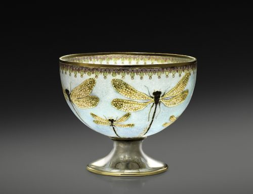 """Dragonfly"" plique-a-jour bowl"