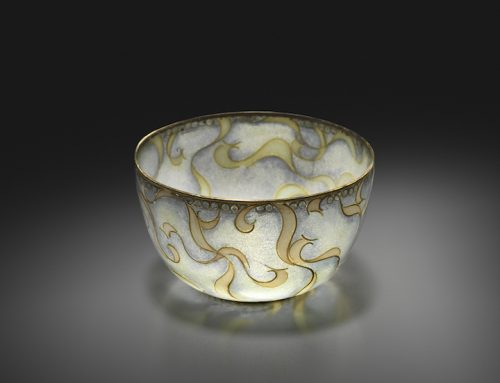 """Ribbon"" plique-a-jour bowl"