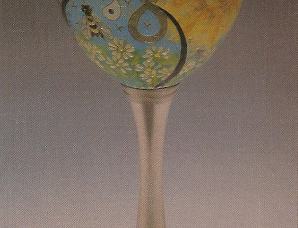 """""""Yang"""" Plique-à-jour Goblet"""