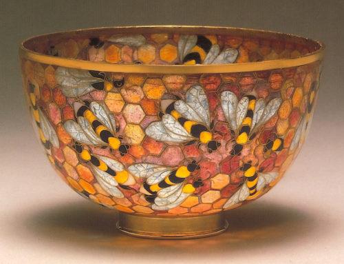 """""""Bee Bowl"""" Plique-à-jour Bowl"""