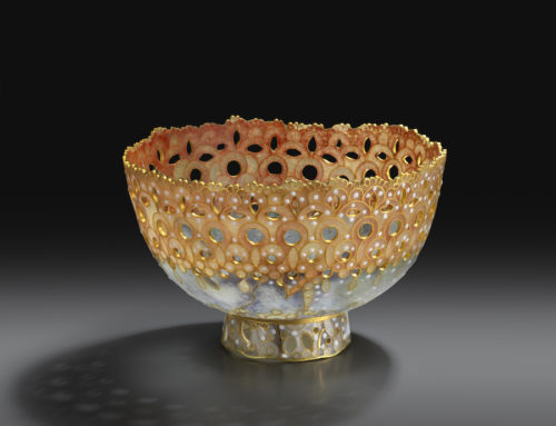 "V&A purchase my ""Lace"" plique-a-jour bowl for their permanent collection"